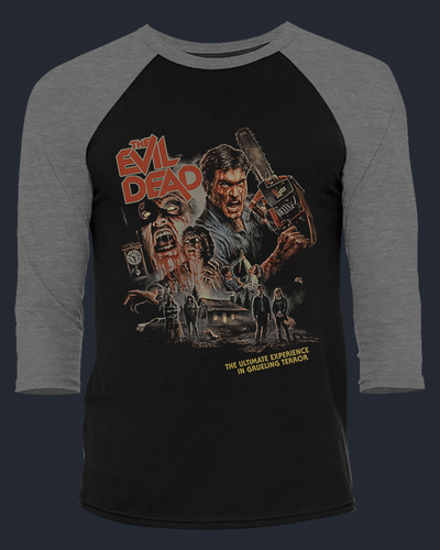 The Evil Dead - 40th Anniversary - Baseball Tee Baseball Fright-Rags
