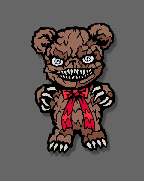 Krampus - Teddy Bear - Enamel Pin