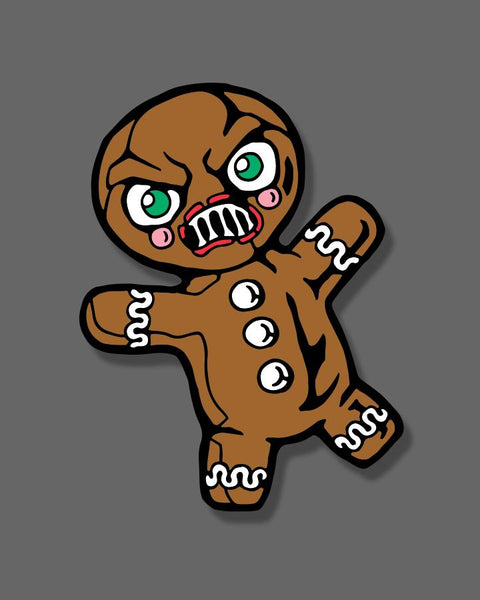 Krampus - Gingerbread Man - Enamel Pin