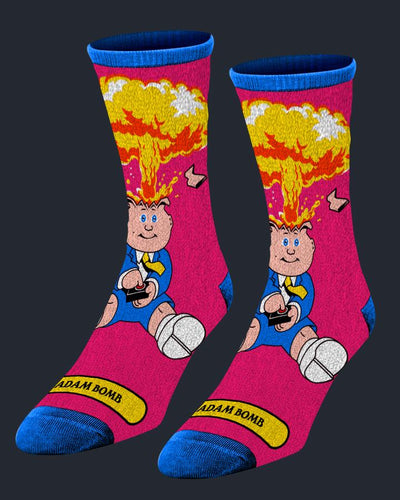 Garbage Pail Kids - Adam Bomb Socks Socks Fright-Rags