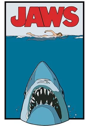 Jaws - Enamel Pin - Poster