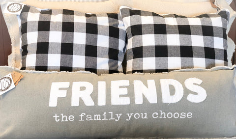 Friends are the family you choose pillow