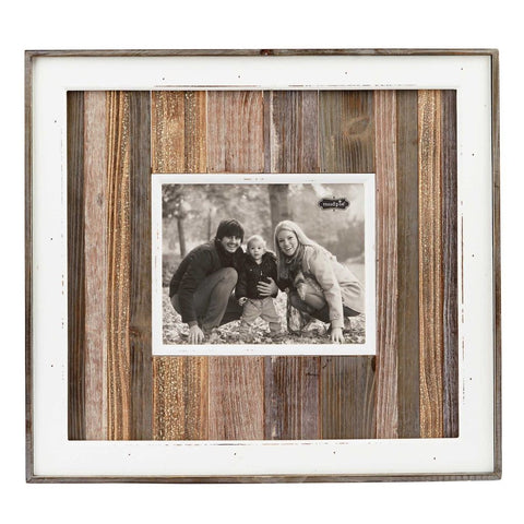 Large Variegated Wood Planked Frame