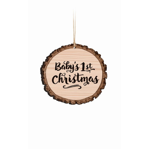 Baby's 1st Christmas Ornament, Wood