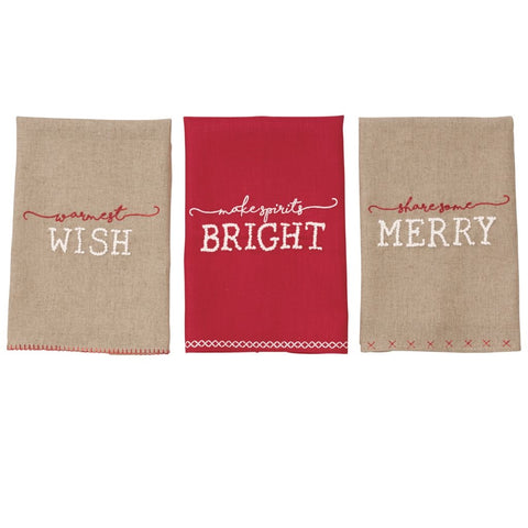 Share Some Merry French Knot Towels