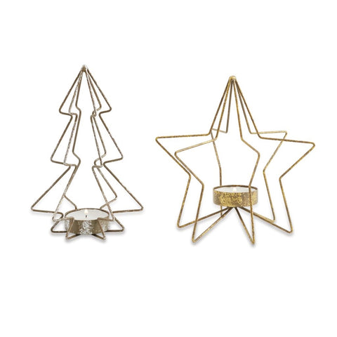 Tree & Star Tea Light Holder