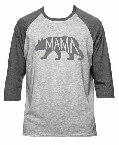 Mama Bear 3/4 Baseball T-Shirt