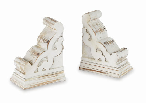 Corbel Bookend, White-washed