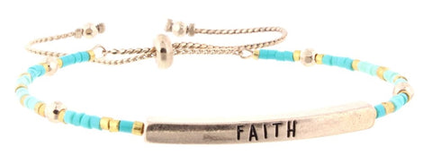 "Beaded Bracelet ""Faith"""