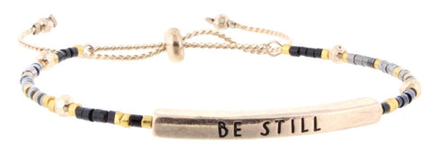 "Beaded Bracelet ""Be Still"""