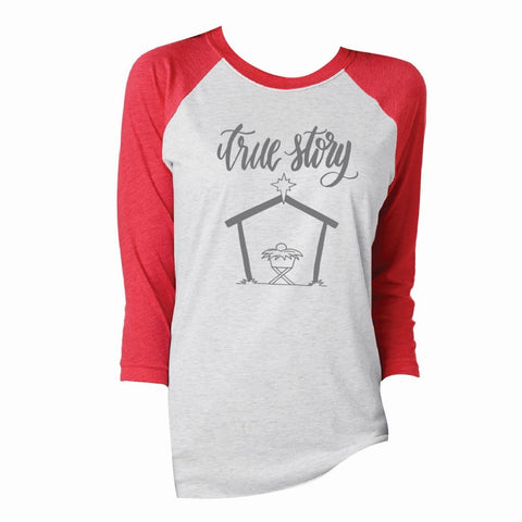 True Story Vintage 3/4 Sleeve T-Shirt
