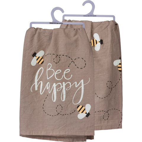 Bumblebee Bee Happy Dish Towel