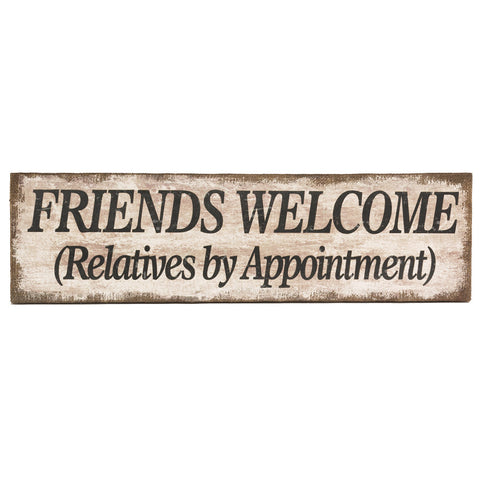Friends Welcome Burlap Canvas
