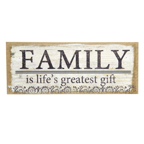 Family Cream Burlap Print
