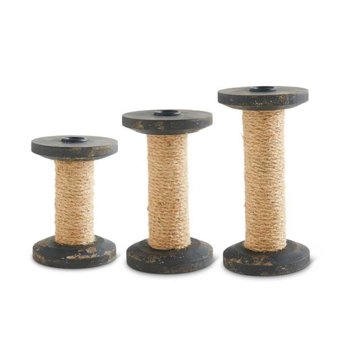 Spool Candle Holder - Set of 3