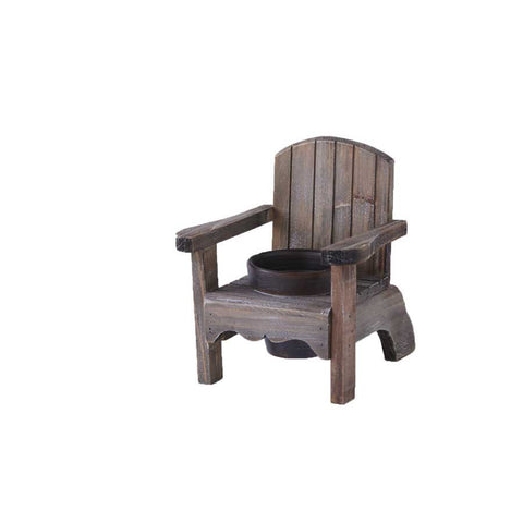 7.5 Inch Weathered Wood Chair Single Pot Holder