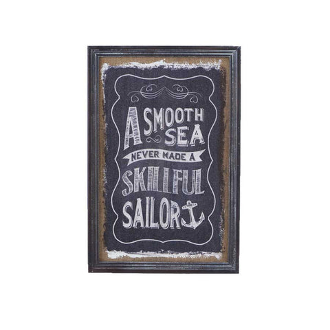Smooth Sea Framed Burlap Print
