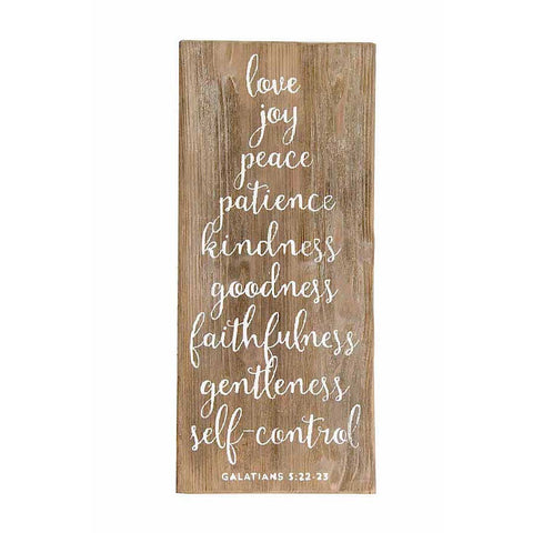 Galatians Barn Board Wall Sign