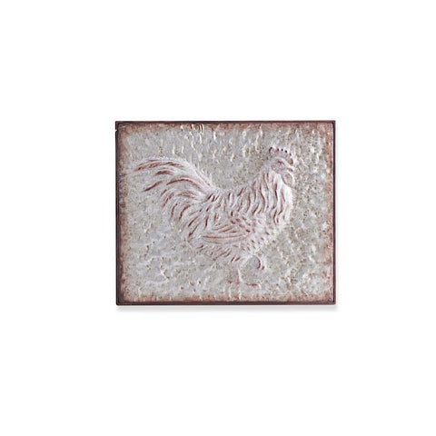 Metal Embossed Rooster