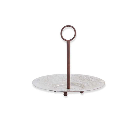 Round Metal Disk Platter with Holder