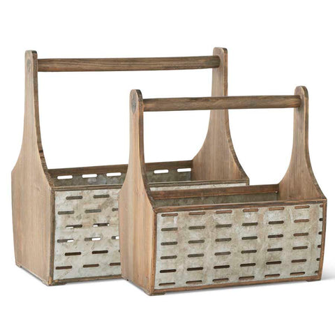 Wood & Metal Baskets