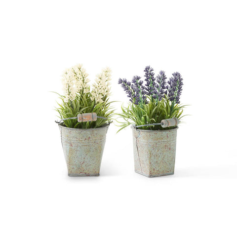 Tin Bucket w/Lavender