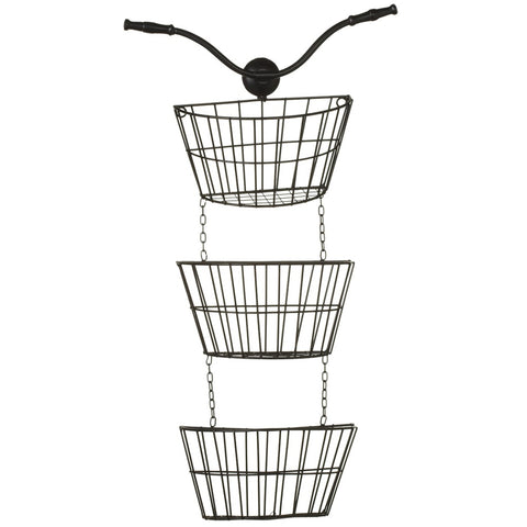 Bicycle Hanging Wall Baskets