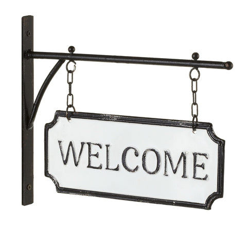 "Enamelware ""Welcome"" Sign"