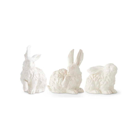 White Glazed Terracotta Bunny