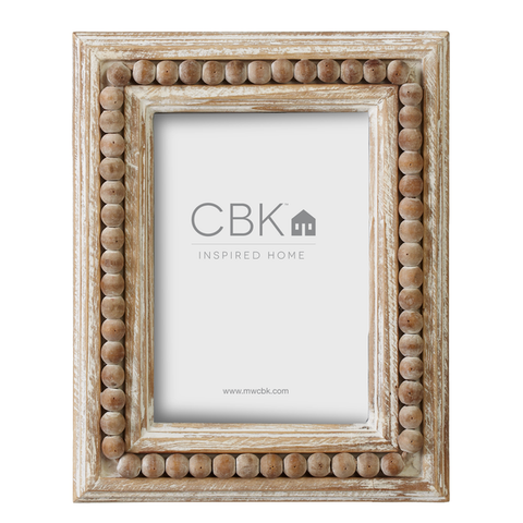 Wooden Beaded Frame
