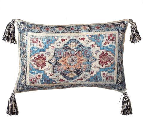 Medallion Pillow w/Tassels
