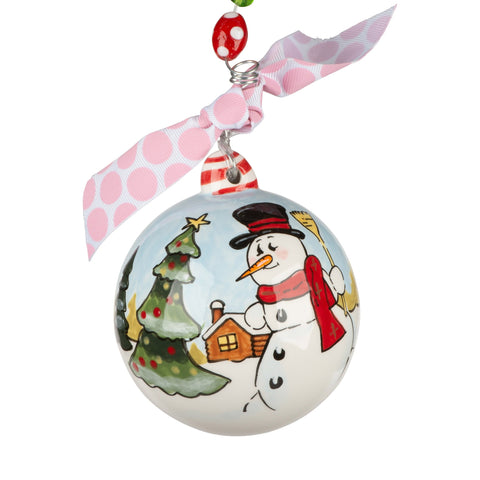 Wish A Merry Christmas Snowman Ornament