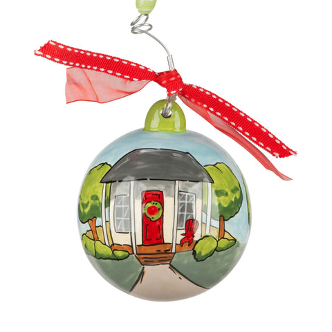Round Ornament with a Cute House
