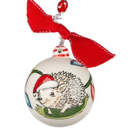 Round Christmas Hedgehog Ornament