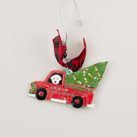 Red Truck Flat Ornament