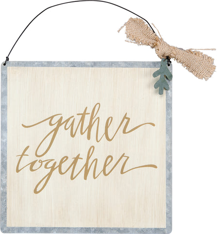Gather Together Tin Ornament
