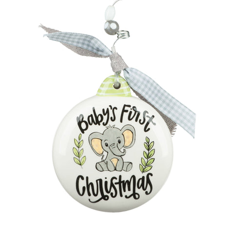 Flat Baby's First Christmas Ornament