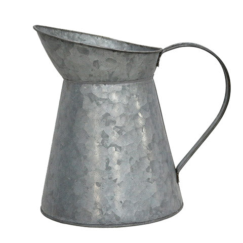 Decorative Galvanized Metal Pitcher