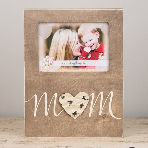 Mom Tin Heart Frame