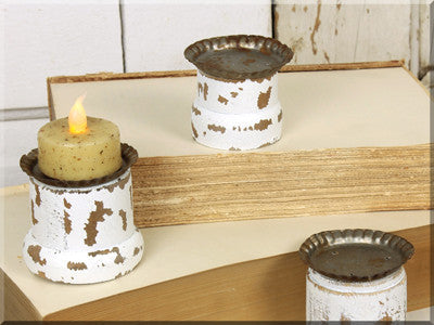 Ivory Spindle Bottom Tealight
