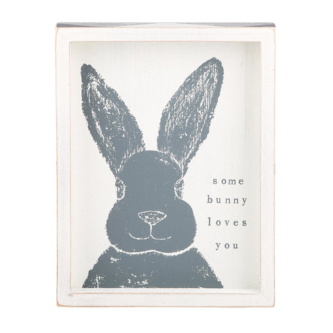 Some Bunny Loves You Framed Board