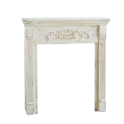 White Distressed Mantle