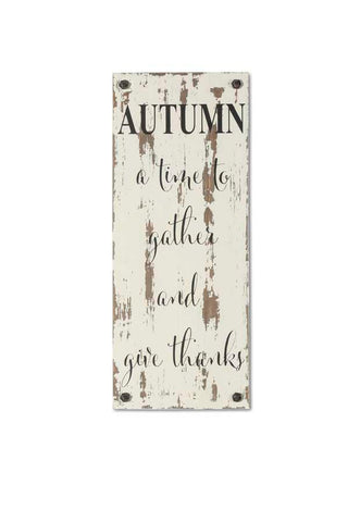 Autumn Barn Board Sign