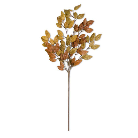 Multicolored gold tone fall leaf stem