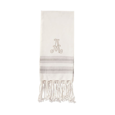 Initial Turkish Hand Towel