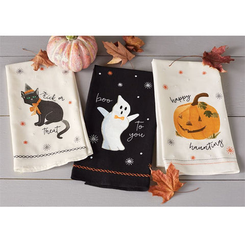 Halloween Sequin Hand Towel