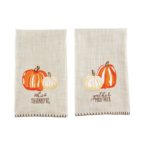 Embroidered Pumpkin Towel