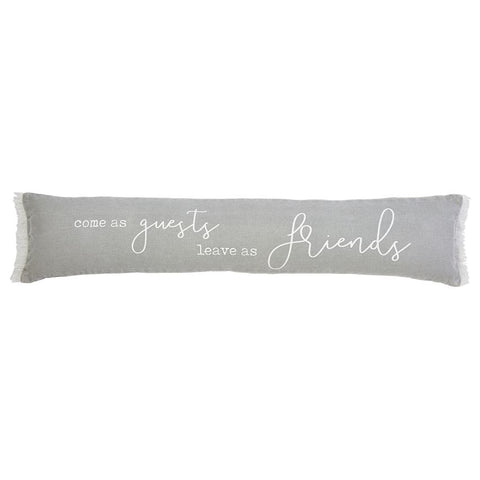 Leave As Friends Skinny Pillow