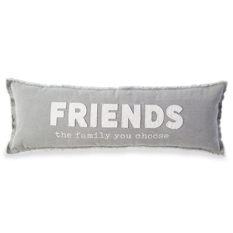 Washed Canvas Friends Long Pillow