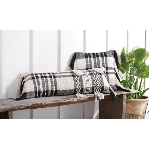 Black & White Check Pillow